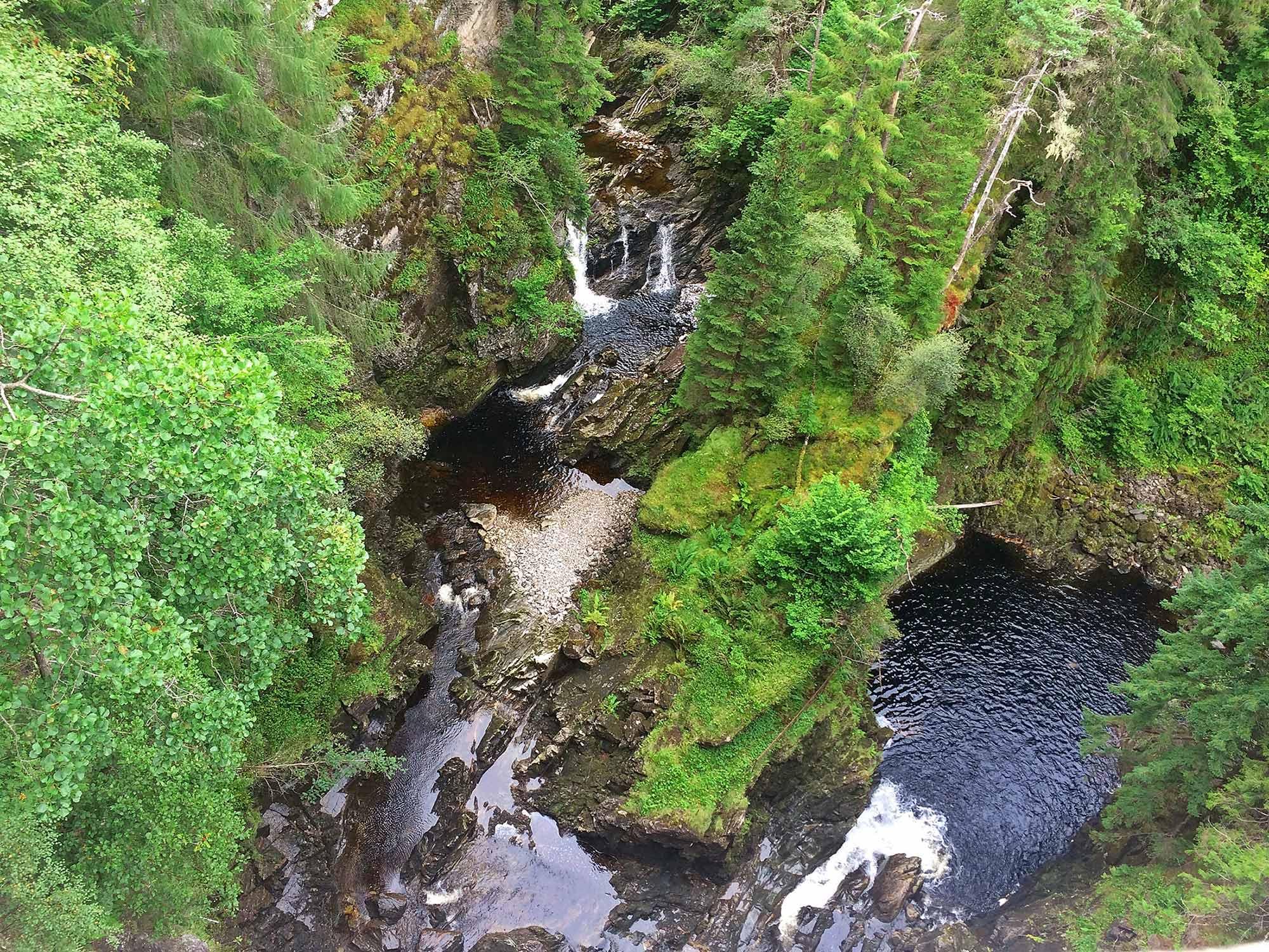 Ariel view of Plodda Falls